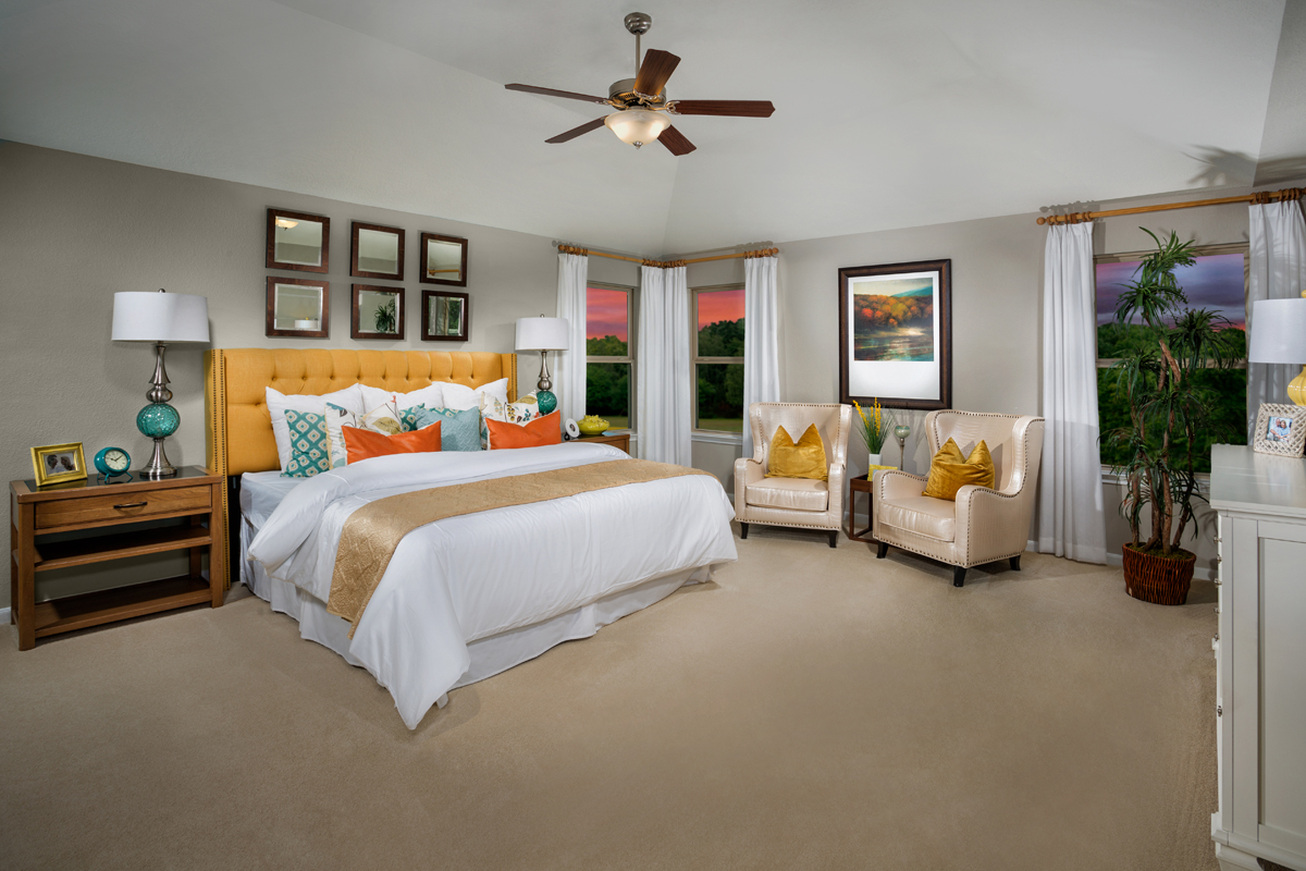 New Homes in Humble, TX - Rivergrove Plan 2478 Master Suite