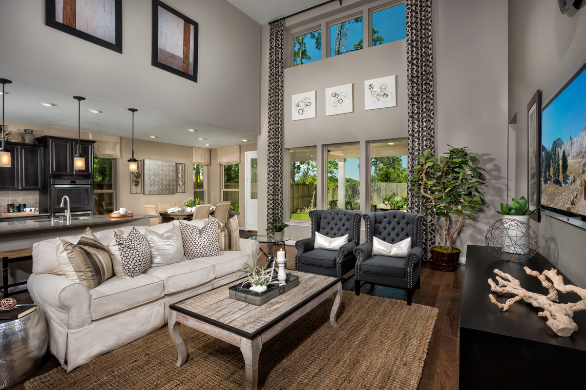 New Homes in Kingwood, TX - Rivergrove Plan 3028 Great Room