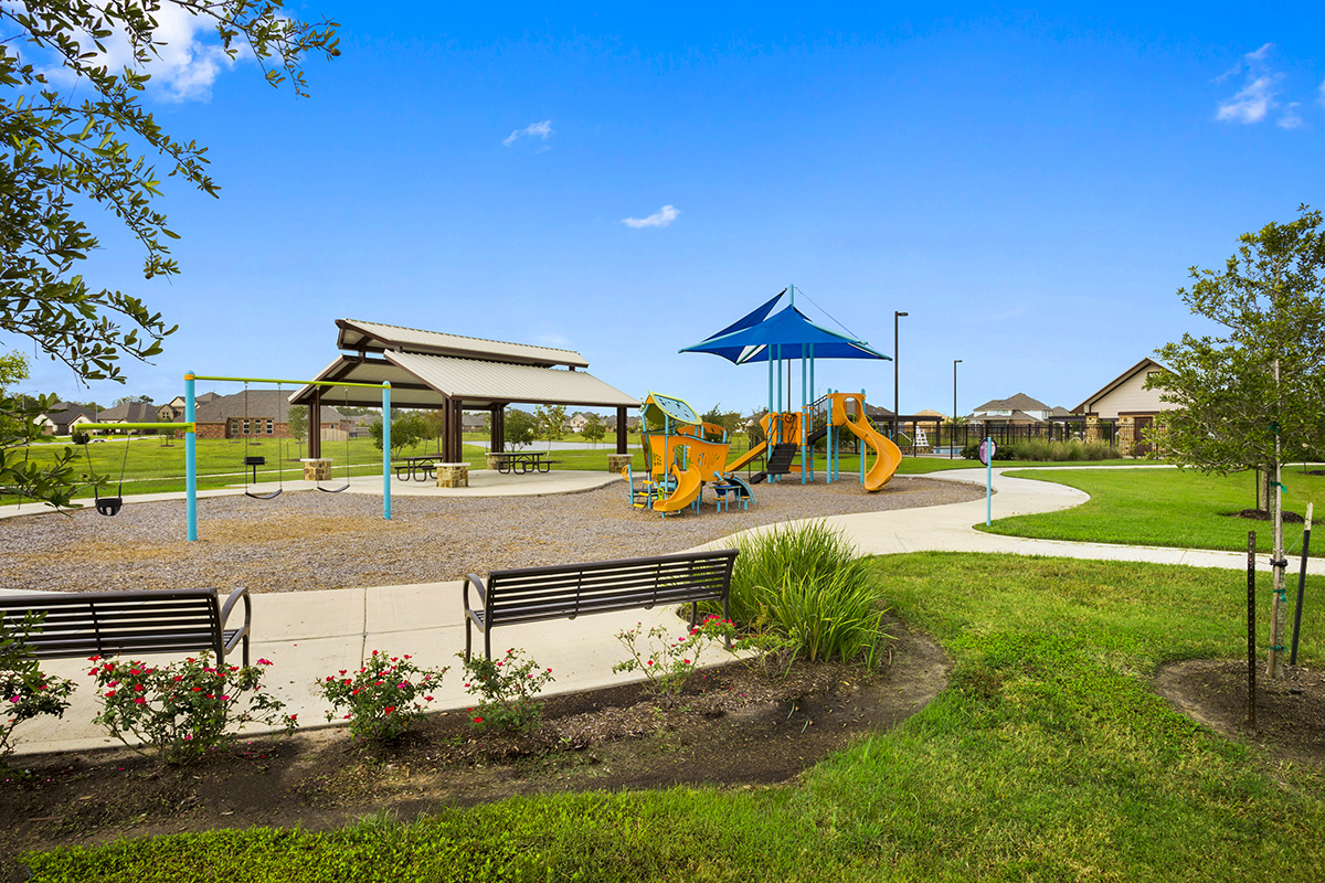 Playground and park at a KB Home community in Pearland, TX