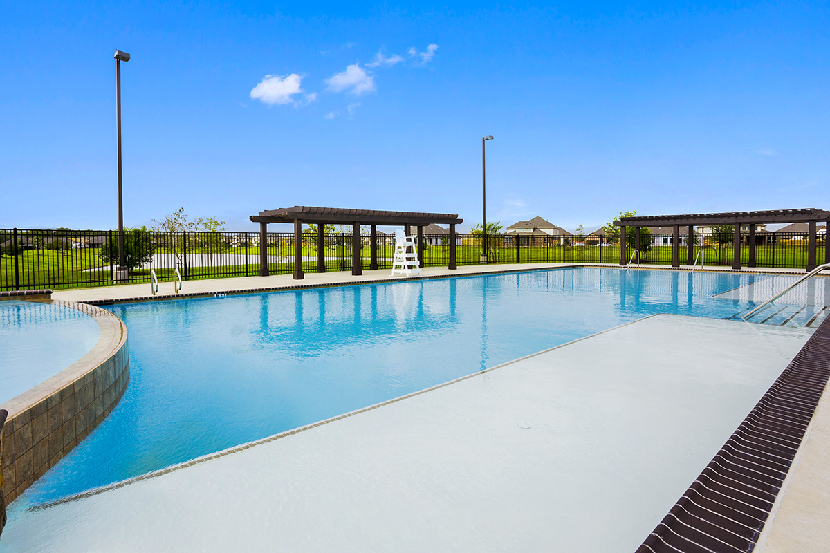 Pool at a KB Home community in Pearland, TX