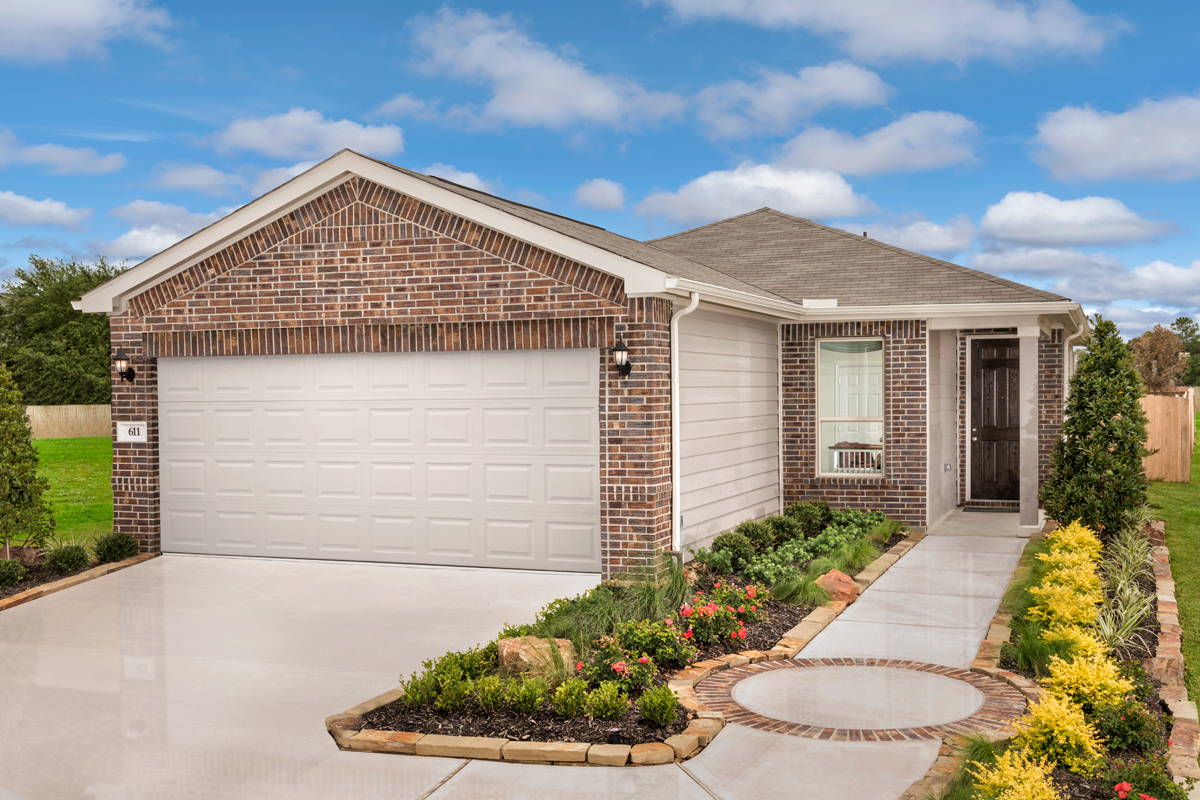 New Homes in Texas City, TX - Vida Costera Plan 1360 as modeled at Timber Crossing