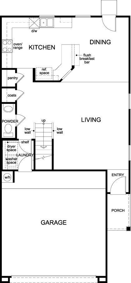 New Homes in Houston, TX - Plan 1663, First Floor