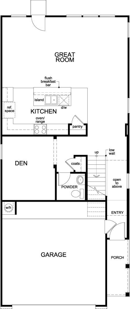 New Homes in Houston, TX - Plan 2315, First Floor