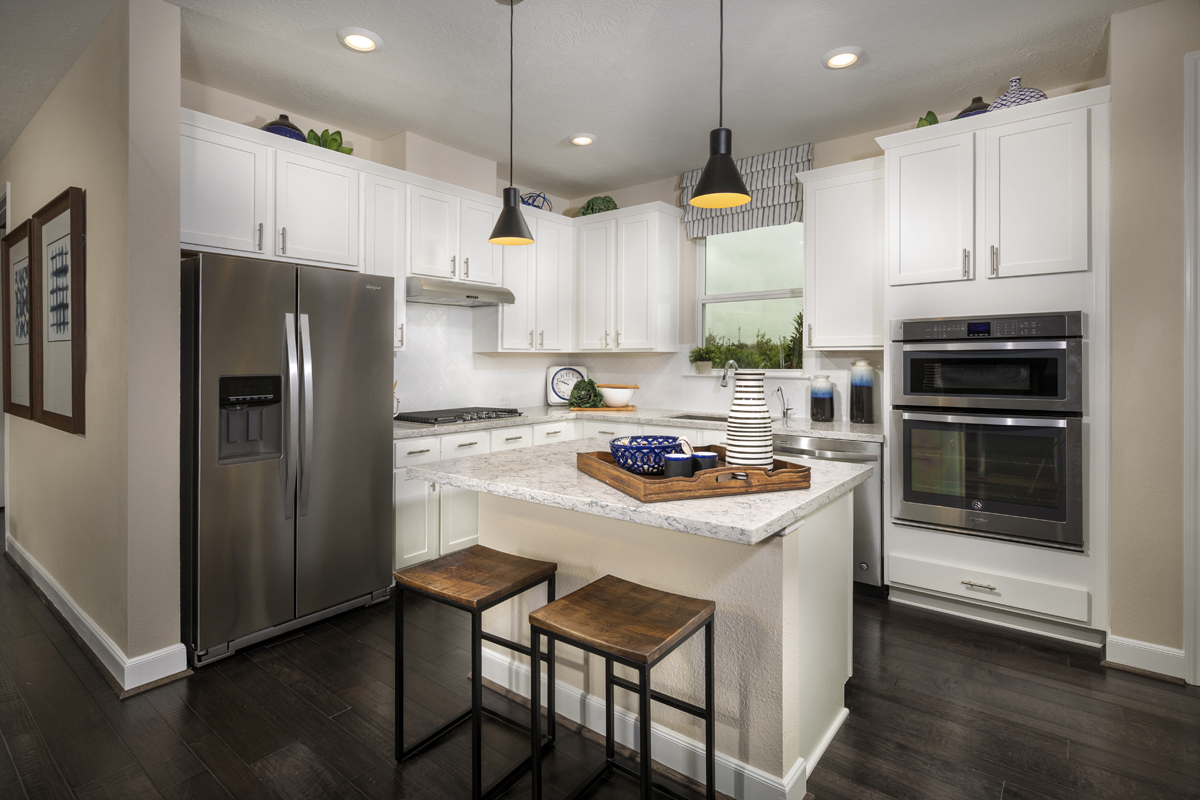 New Homes in Houston, TX - Villas at Spring Shadows Plan 2080 Kitchen
