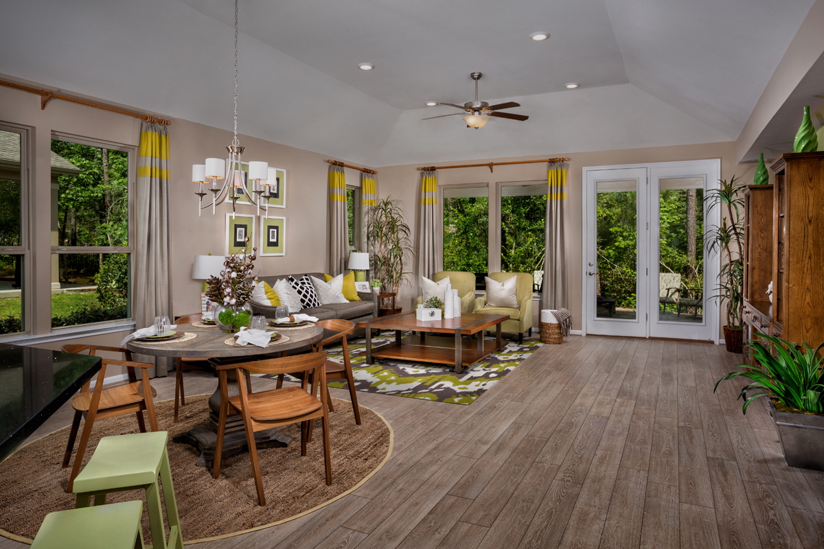 New Homes in Conroe, TX - Wedgewood Falls Preserve Plan 2130 Great Room - Alternate View