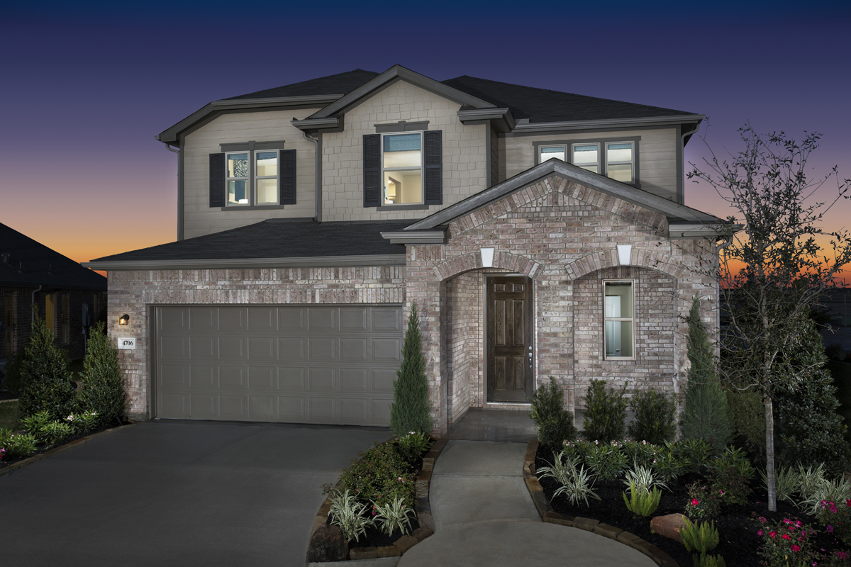 New Homes in Katy, TX - Anserra Springs Plan 2526 as Modeled at The Meadows at Westfield Village