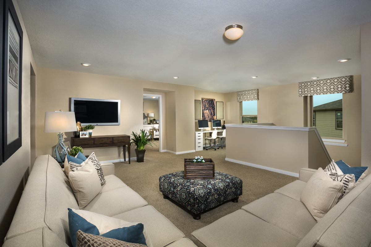 New Homes in Katy, TX - Anserra Springs Plan 2526 Loft as modeled at The Meadows at Westfield Village