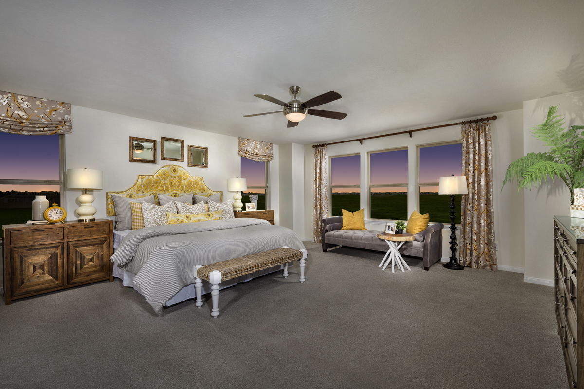 New Homes in Katy, TX - The Meadows at Westfield Village Plan 2961 Master Suite