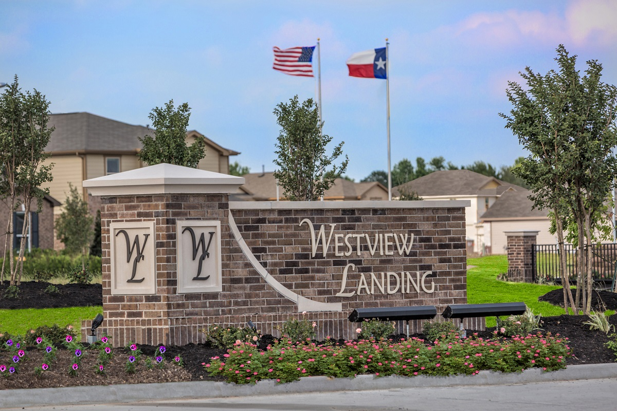 New Homes in Houston, TX - Westview Landing Community Entrance