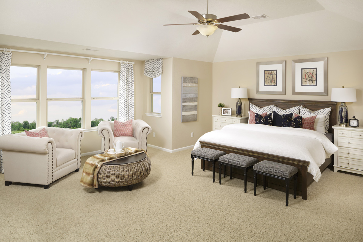 New Homes in Richmond, TX - Williams Ranch Preserve Plan 2936 Master Suite