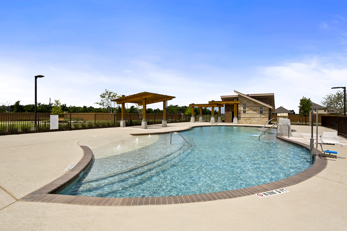 Amenity pool at a KB Home community in Richmond, TX