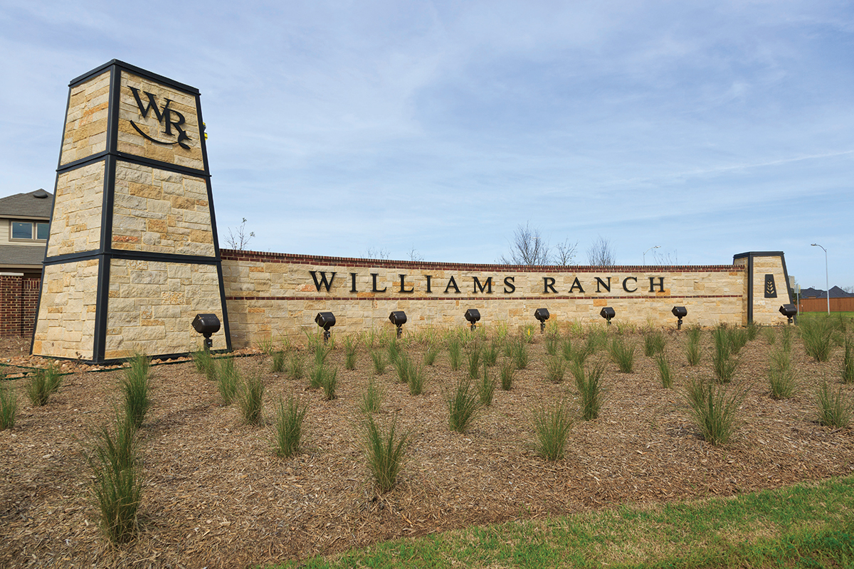 New Homes in Richmond, TX - Williams Ranch Preserve Community Entrance
