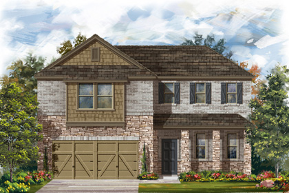 New Homes in Georgetown, TX - Plan A-2502 C
