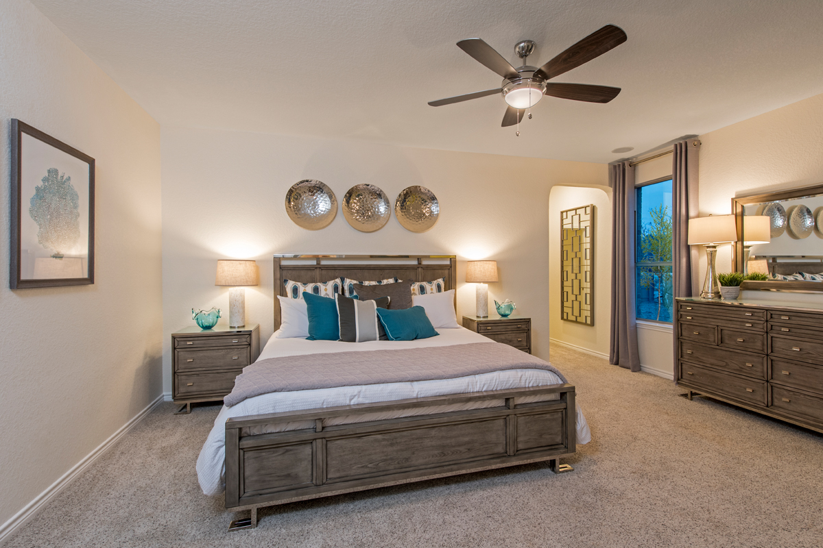 New Homes in San Antonio, TX - Canyon Crest Plan 2382 Master Bedroom