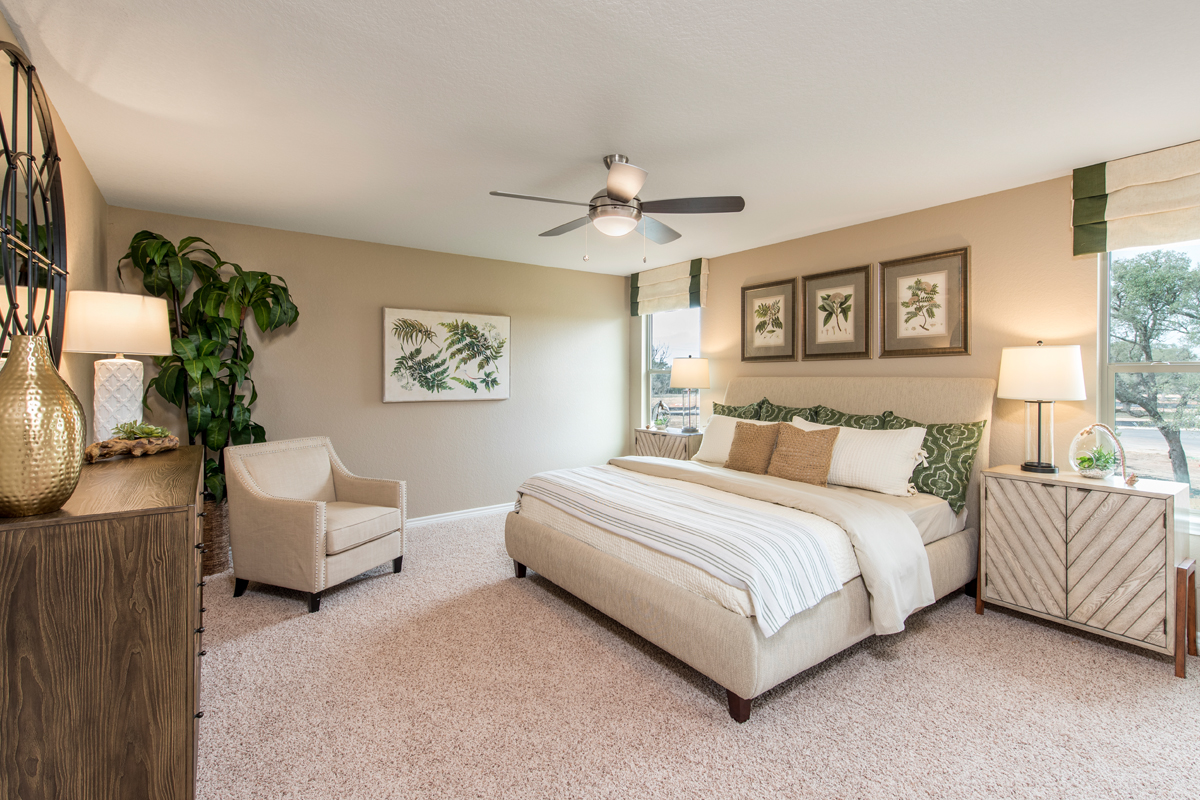 New Homes in San Antonio, TX - Canyon Crest The 2755 Master Bedroom
