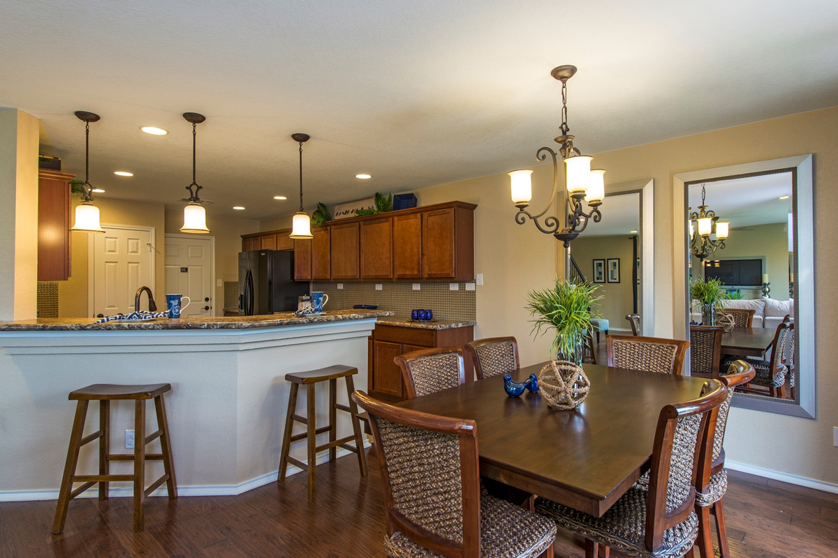 New Homes in San Antonio, TX - The Vistas of Carmona Hills The 1771 Dining and Kitchen