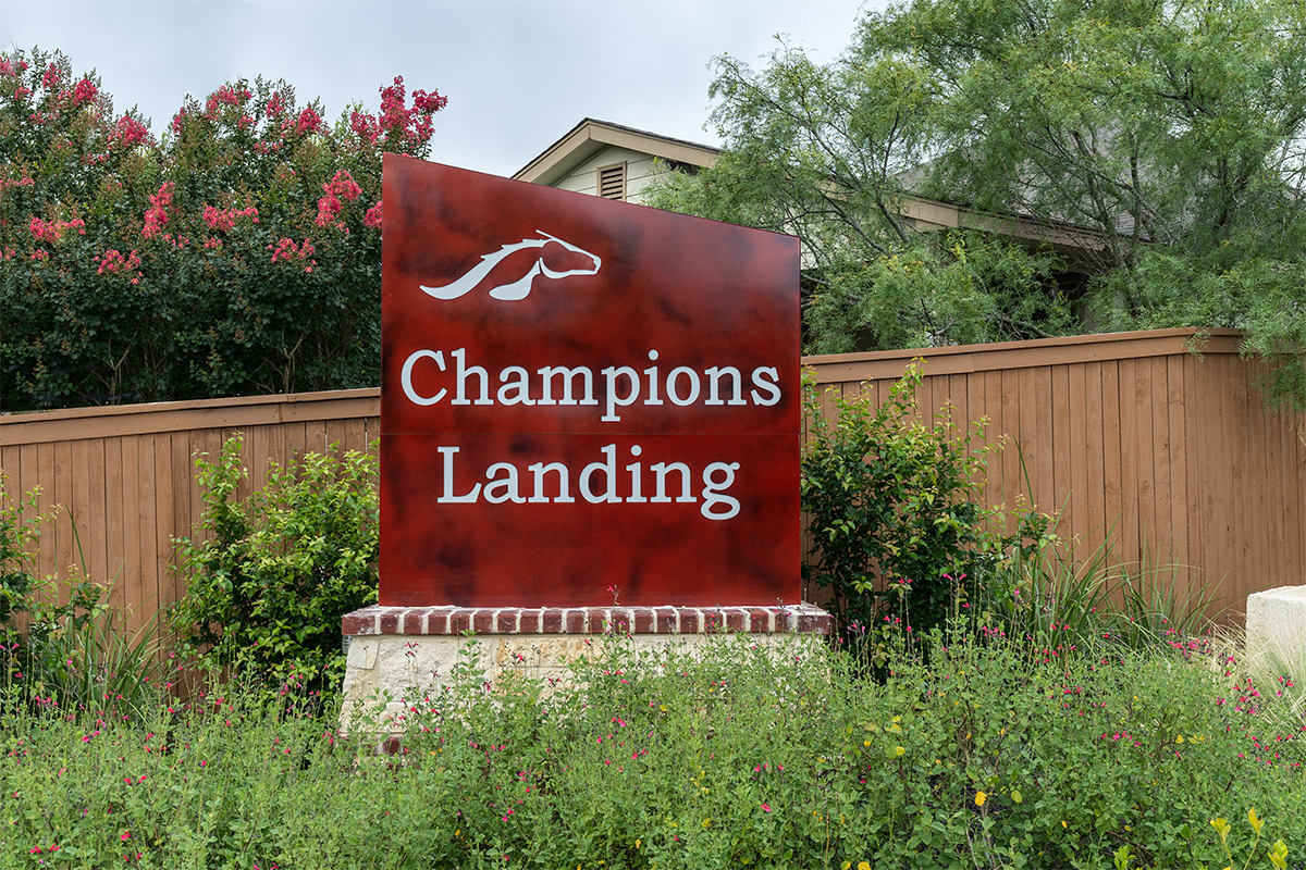 New Homes in San Antonio, TX - Champions Landing Community Entry
