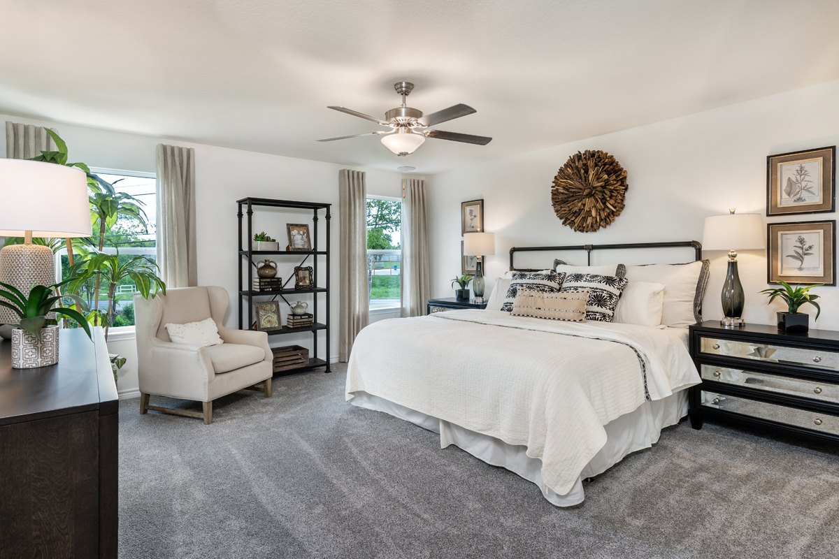 New Homes in San Antonio, TX - Clearcreek The 2088 Master Bedroom