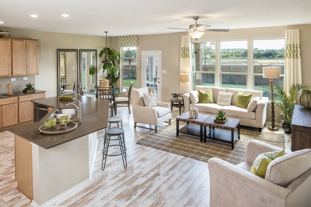 New Homes in Universal City, TX - Copano Ridge The 2502 Great Room