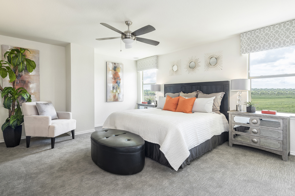 New Homes in Universal City, TX - Copano Ridge The 2755 Master Bedroom