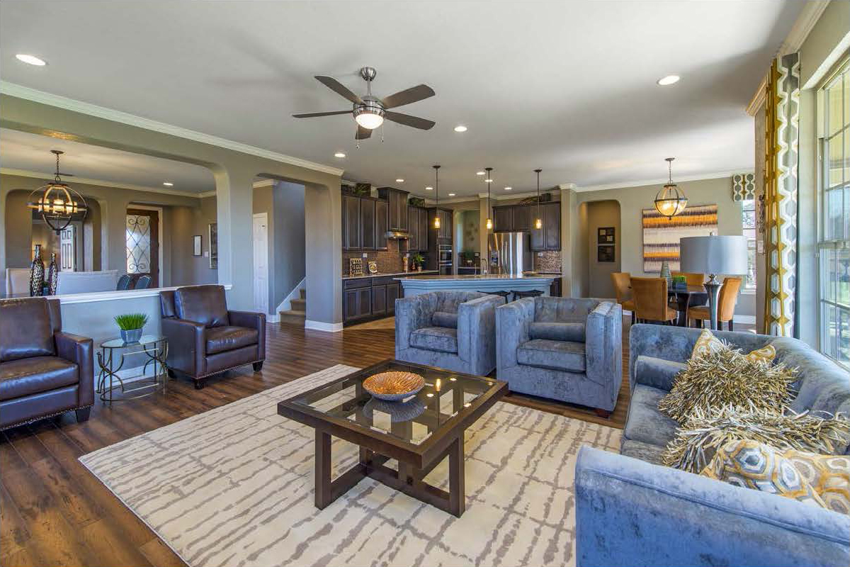 New Homes in San Antonio, TX - CrossCreek - Classic Collection The 3475 Great Room