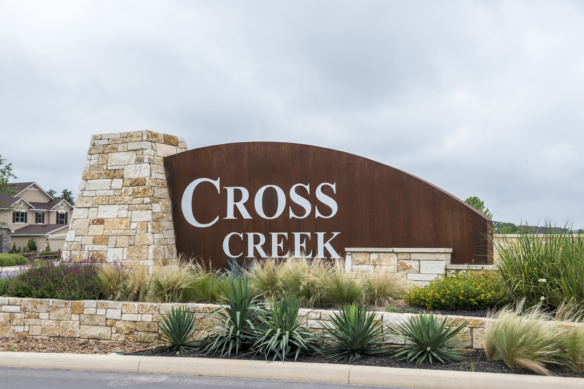 New Homes in San Antonio, TX - CrossCreek - Sterling and Heritage Collections Community Entry