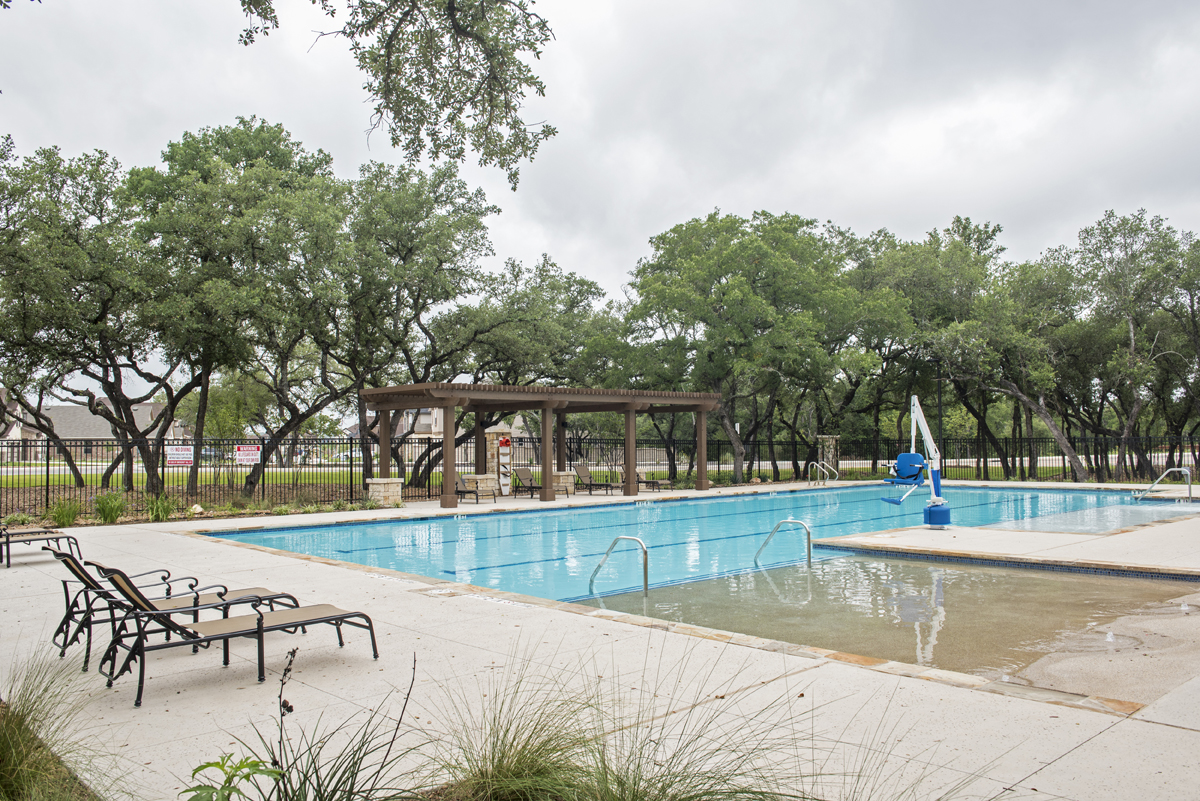 New Homes in San Antonio, TX - CrossCreek - Sterling and Heritage Collections Community Pool