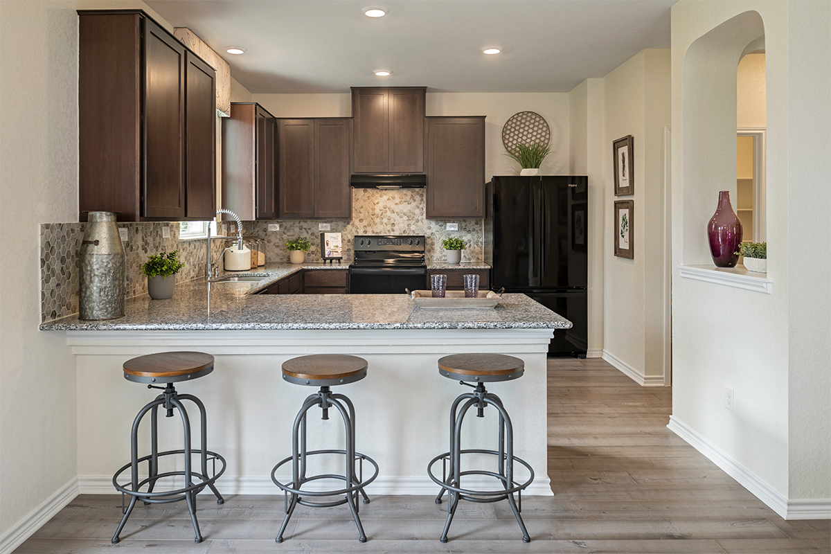 New Homes in San Antonio, TX - CrossCreek - Sterling and Heritage Collections The 2088 Kitchen