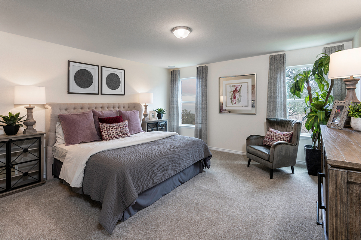 New Homes in San Antonio, TX - CrossCreek - Sterling and Heritage Collections The 2088 Master Bedroom
