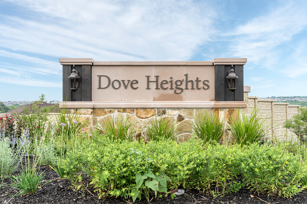 New Homes in San Antonio, TX - Dove Heights Entry Monument