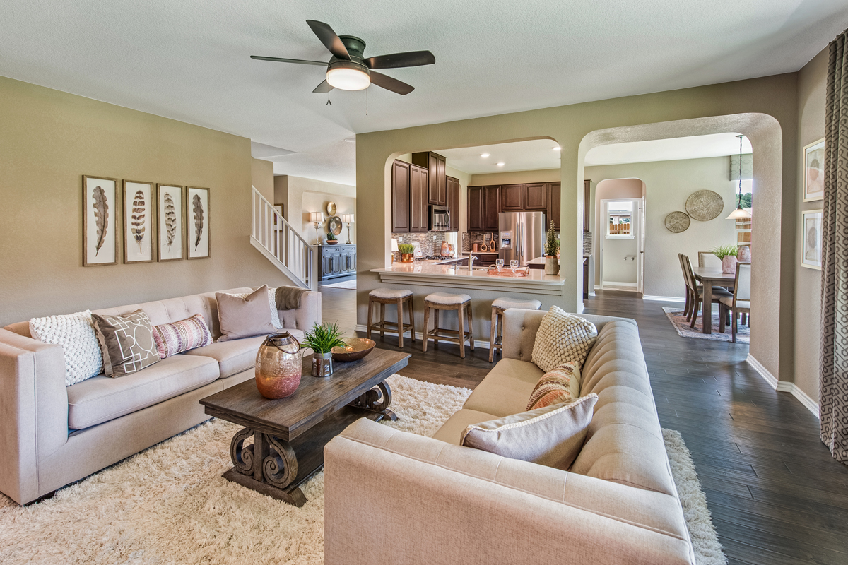 New Homes in Bulverde, TX - Edgebrook The 3125 Great Room
