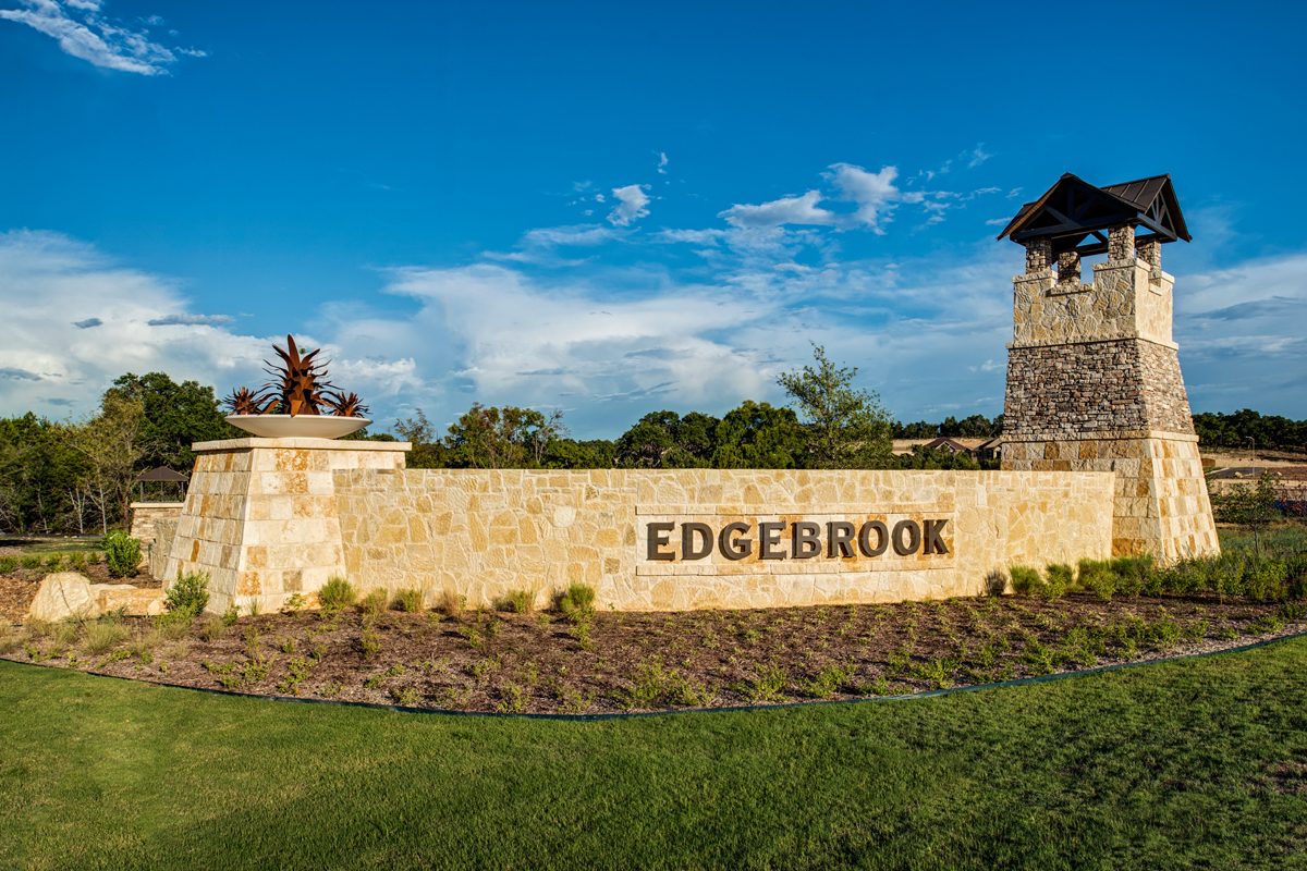 New Homes in Bulverde, TX - Edgebrook Community Entry