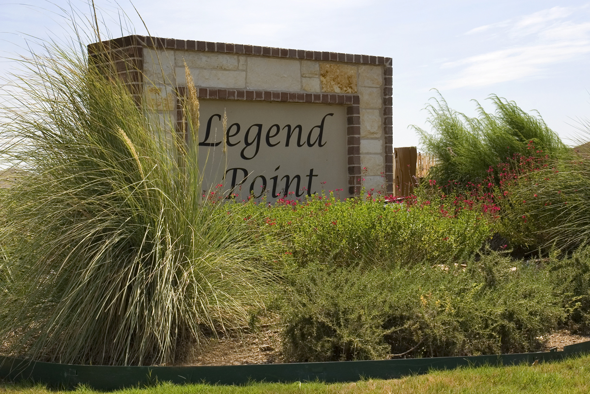 New Homes in New Braunfels, TX - Legend Point Community Entry