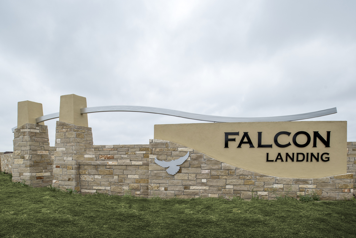 New Homes in San Antonio, TX - Falcon Landing Community Entry