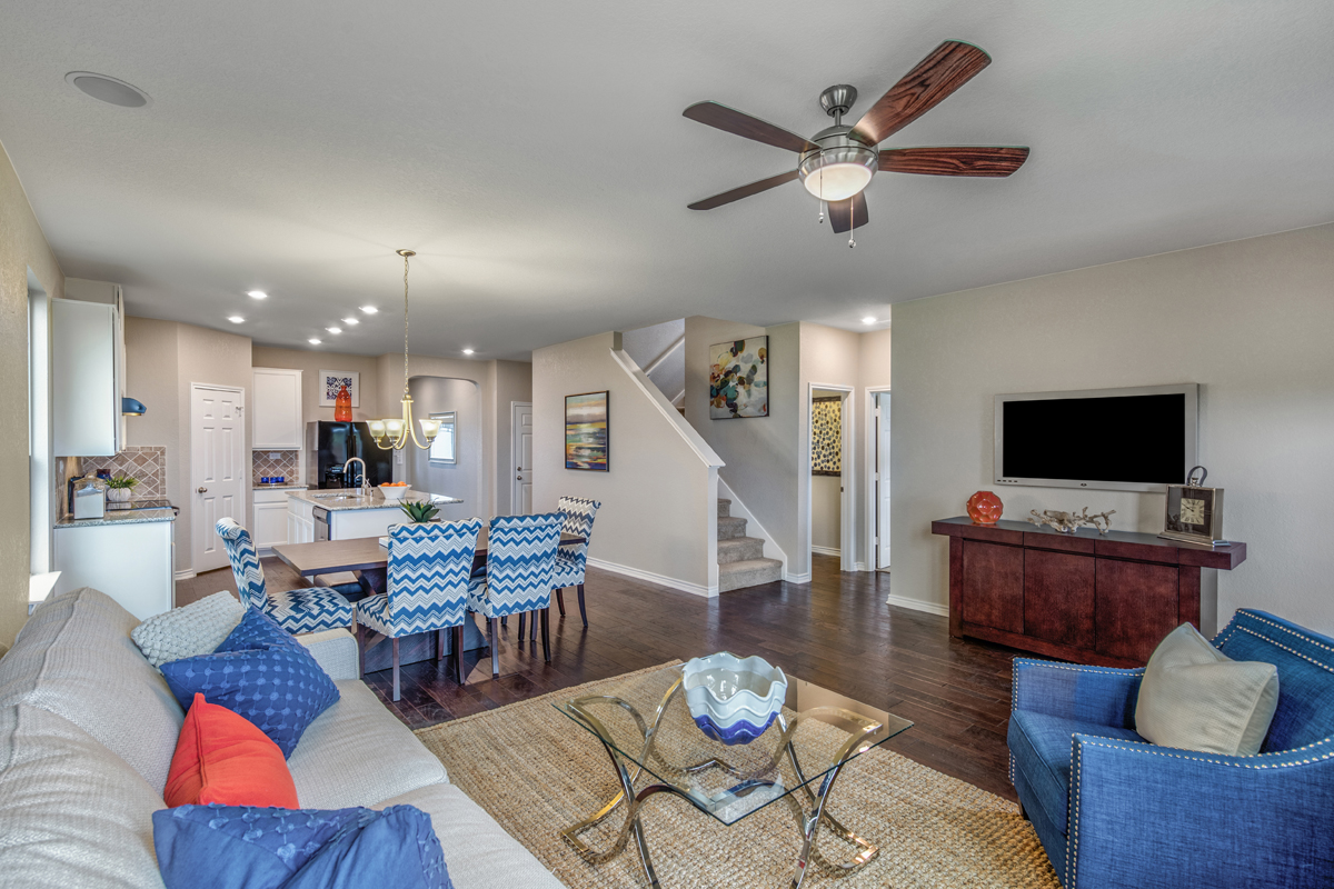 New Homes in San Antonio, TX - Falcon Landing The 2700 Great Room