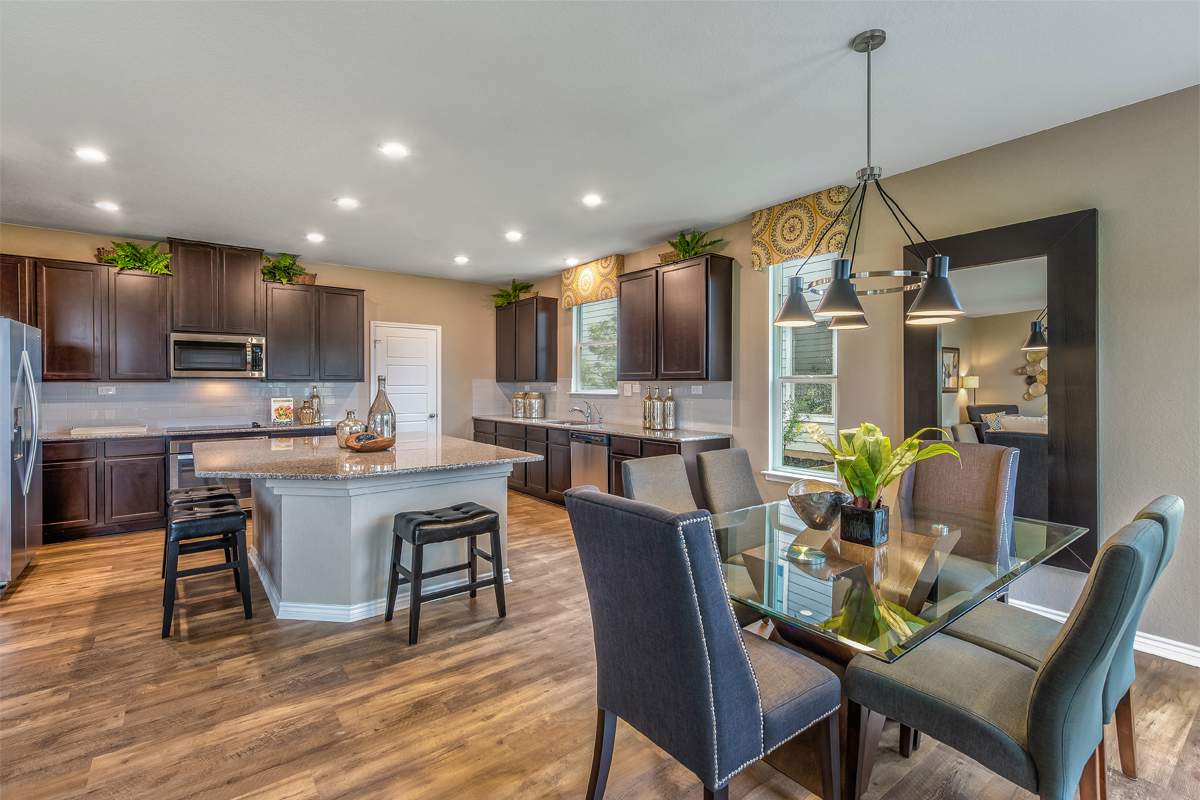 New Homes in San Antonio, TX - Falcon Landing The 2898 Dining & Kitchen