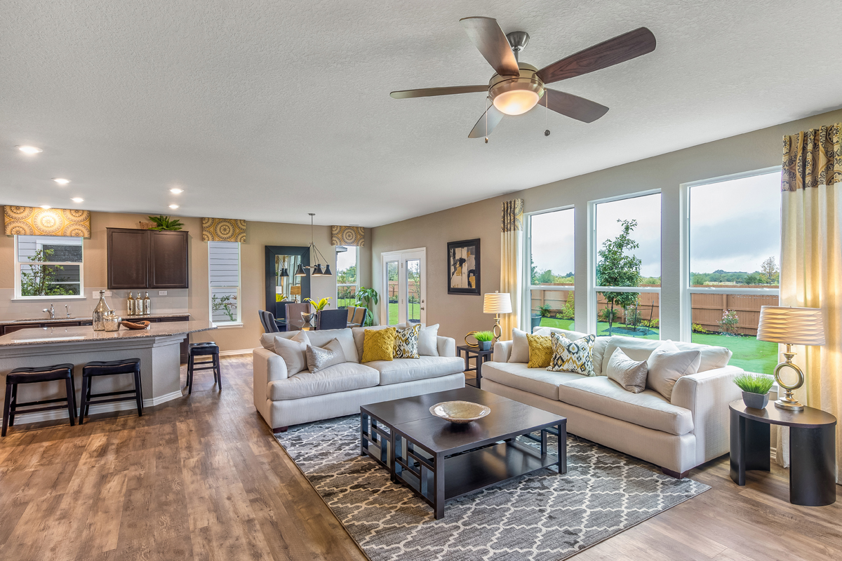 New Homes in San Antonio, TX - Falcon Landing The 2898 Great Room