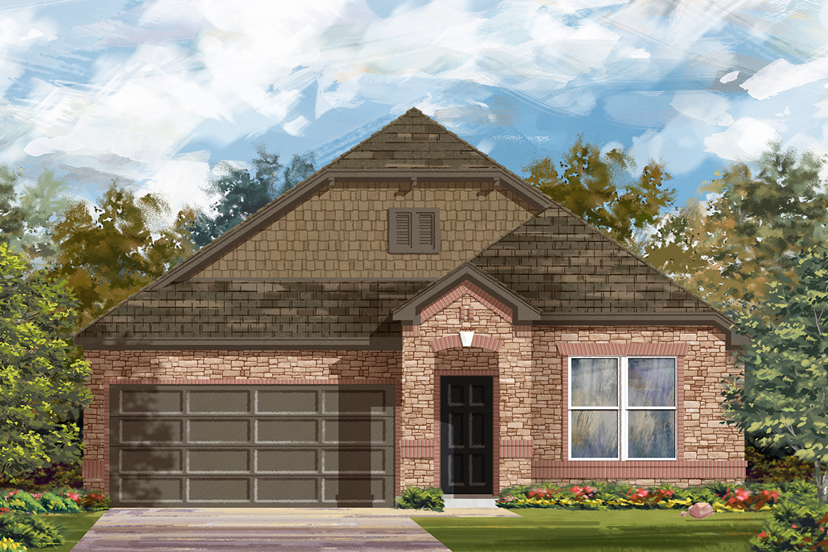New Homes in New Braunfels, TX - Deer Crest - Classic Collection Plan 1491 Elevation C