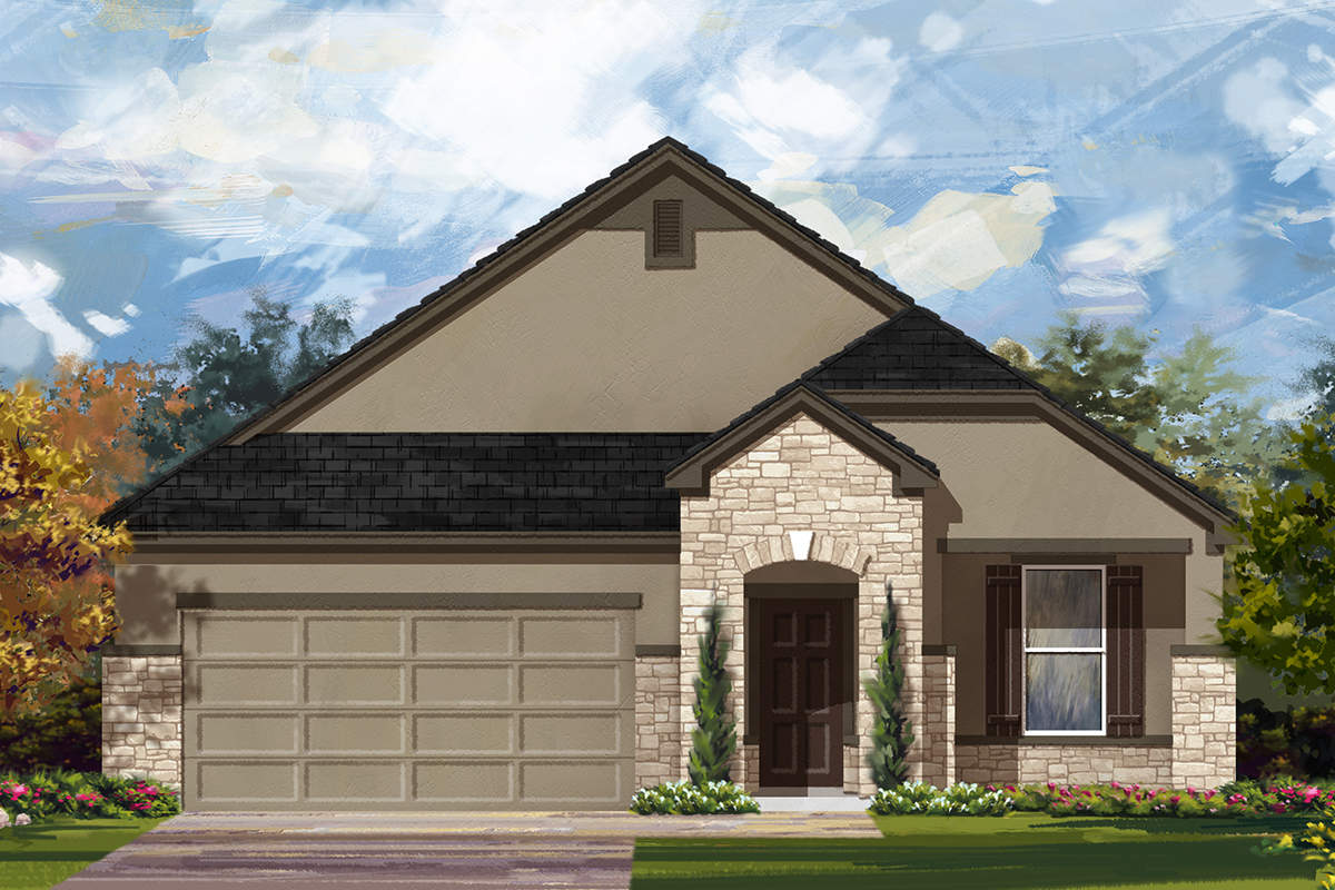 New Homes in San Antonio, TX - Canyon Crest The 1792 D