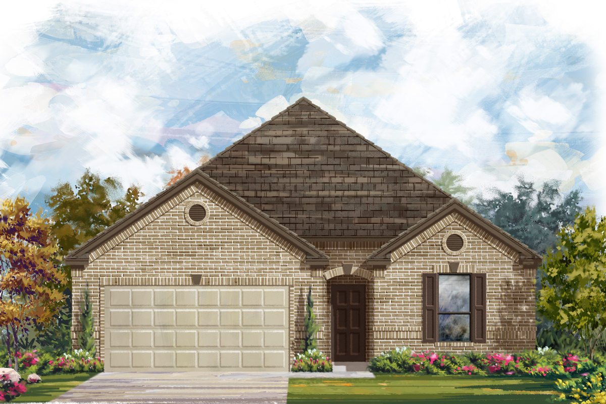 New Homes in New Braunfels, TX - Elevation A