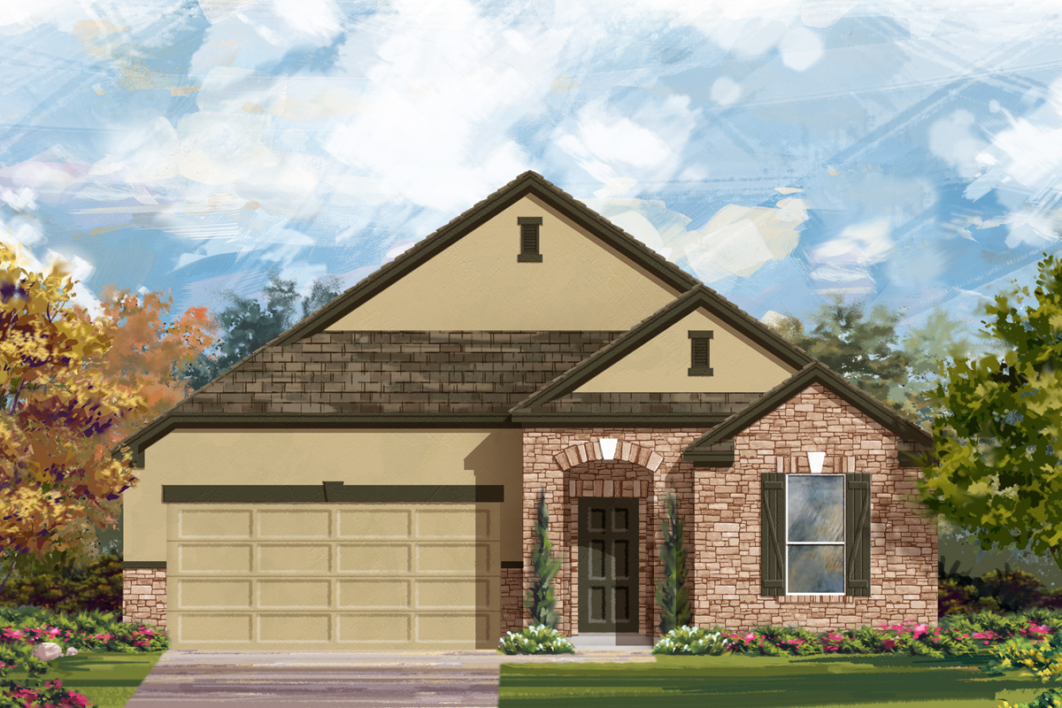 New Homes in New Braunfels, TX - Elevation D