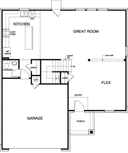 New Homes in San Antonio, TX - Plan 2469, First Floor