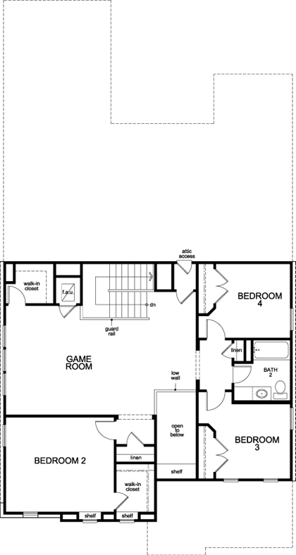 New Homes in San Antonio, TX - Plan 3023, Second Floor