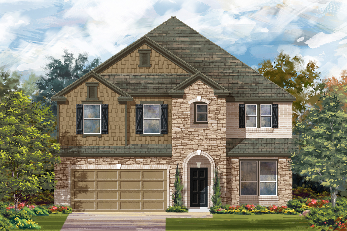 New Homes in San Antonio, TX - The 3699 C