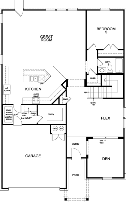 New Homes in San Antonio, TX - Plan 3699, First Floor