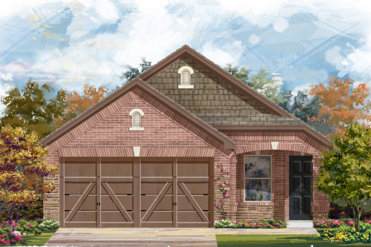 New Homes in New Braunfels, TX - Elevation E
