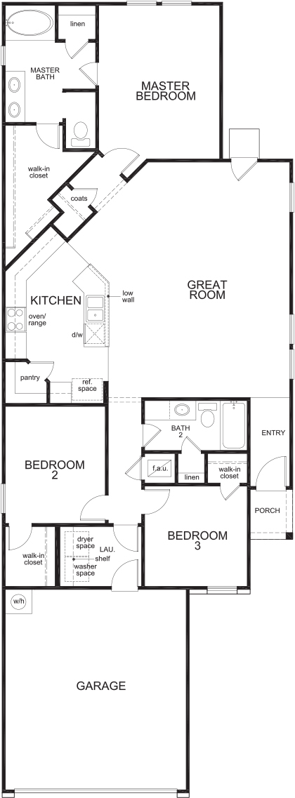 New Homes in San Antonio, TX - Plan 1549, First Floor