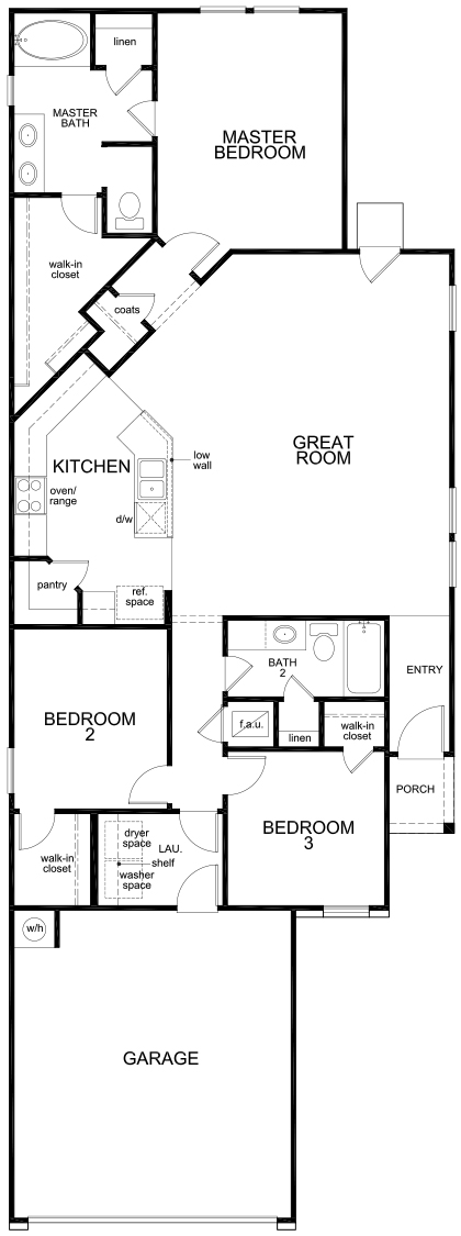 New Homes in New Braunfels, TX - Plan 1549, First Floor