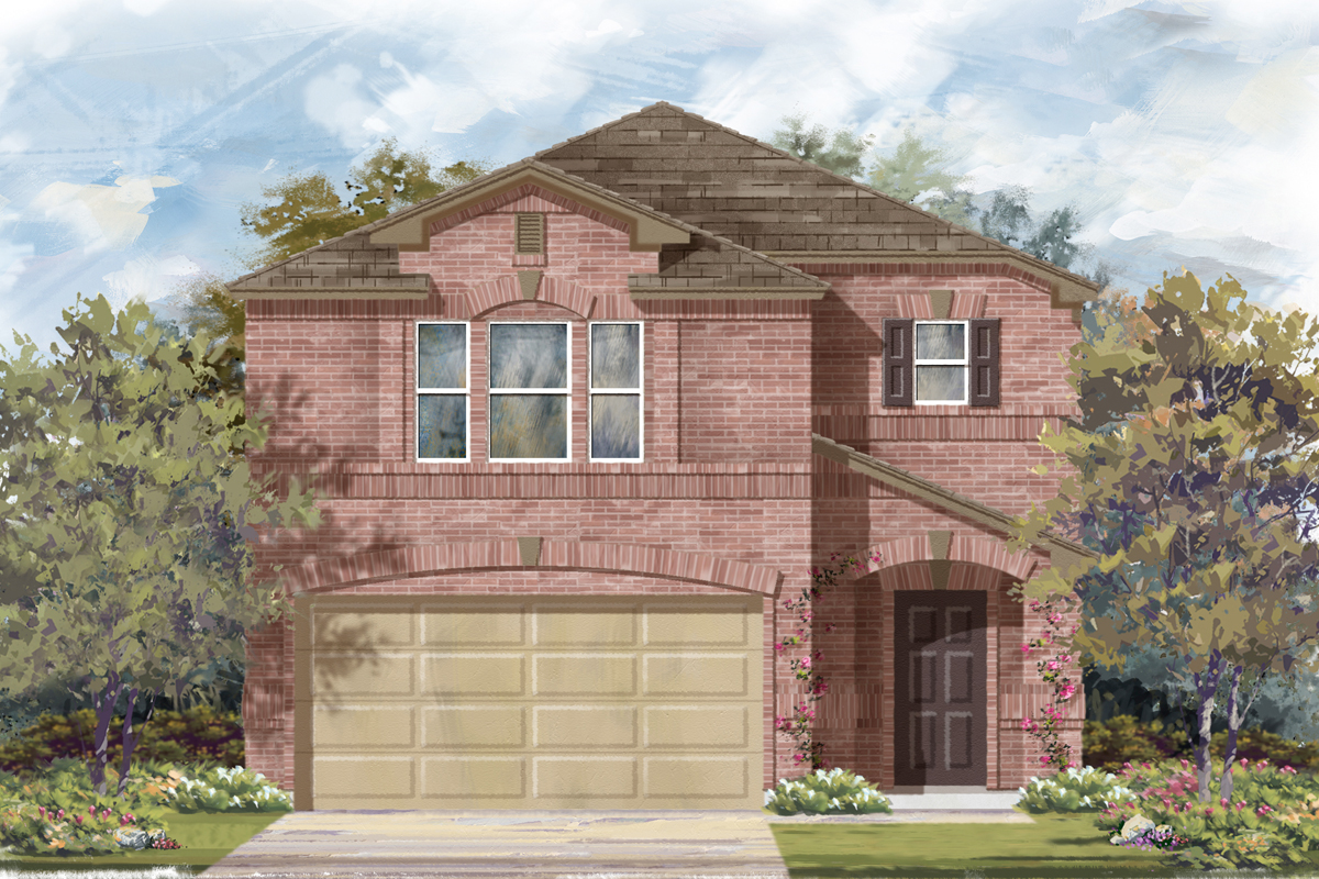 New Homes in San Antonio, TX - Miller Ranch Plan 1909 Elevation C