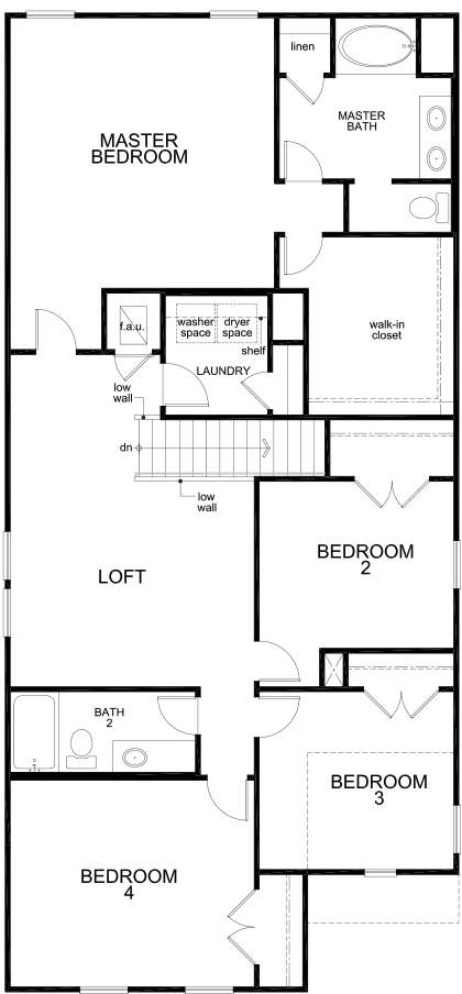 New Homes in Converse, TX - Plan 2745, Second Floor